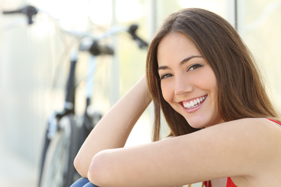 Girl portrait with perfect smile and white teeth